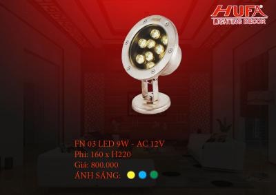 Đèn âm nước HUFA FN 03 led 9W - AC 12V