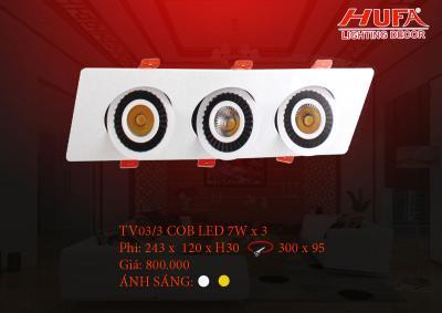 Đèn chiếu điểm cao cấp HUFA TV03/3 cob led 7W x 3