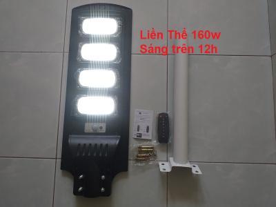 Đèn năng lượng mặt trời liền thể 160w sáng nguyên đêm