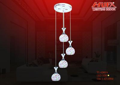 Đèn thả trần led pha lê siêu đẹp TL 6280/4