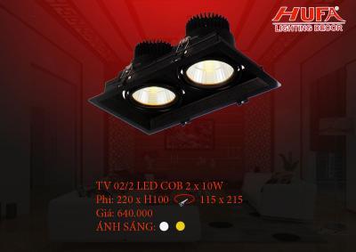 Đèn chiếu điểm cao cấp HUFA TV02/2 led cob 2 x 10W