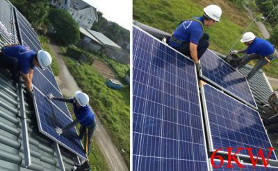 Lắp đặt hệ thống pin năng lượng mặt trời 6kw